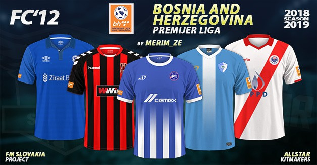 Football Manager 2019 Kits - FC'12 – Bosnia and Herzegovina – Premijer liga 2018/19