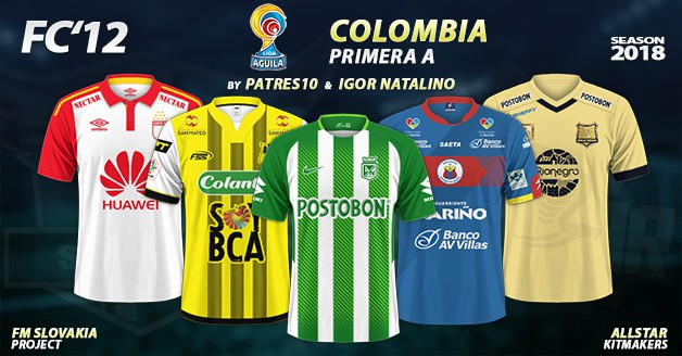 Football Manager 2019 Kits - FC'12 – Colombia – Primera A 2018