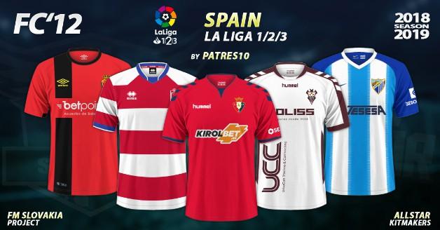 Football Manager 2019 Kits - FC'12 Spain – La Liga 1|2|3 2018/19