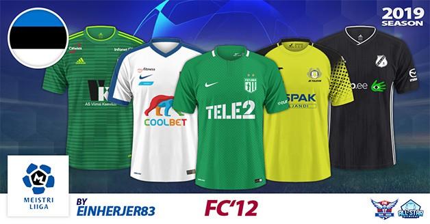 Football Manager 2019 Kits - FC'12 Estonia – Meistriliiga 2019