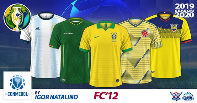 Football Manager 2019 Kits - FC'12 Nations – CONMEBOL [Copa América 2019-20 edition]