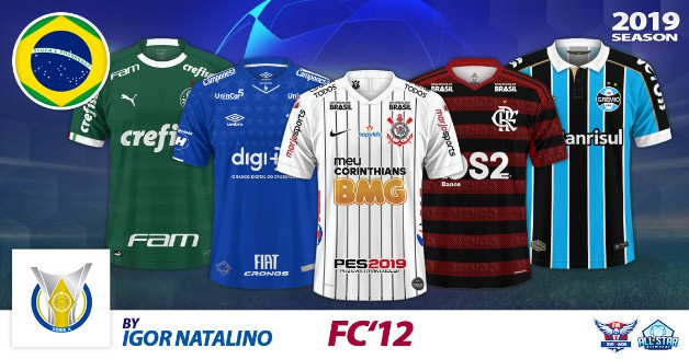 Football Manager 2019 Kits - FC'12 Brazil – Série A 2019 [1.01]