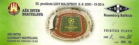 2001 INTER ROSENBORG