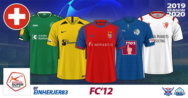 Football Manager 2019 Kits - FC'12 Switzerland – SuperLeague 2019/20
