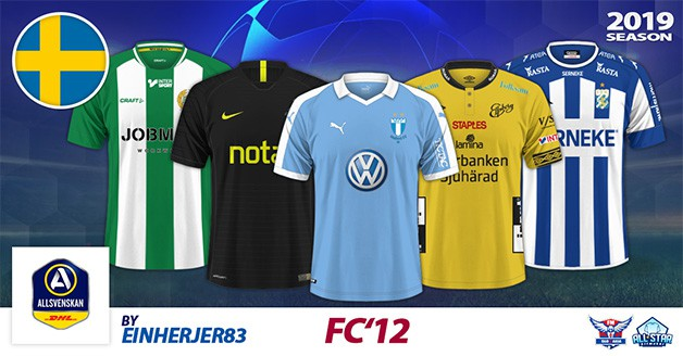 Football Manager 2019 Kits - FC'12 Sweden – Allsvenskan 2019