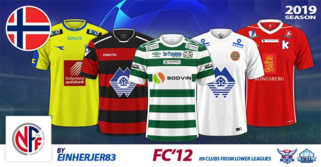 Football Manager 2019 Kits - FC'12 Norway – Lower divisions 2019
