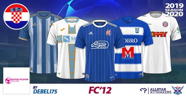 Football Manager 2019 Kits - FC'12 – Croatia – Hrvatski Telekom Prva liga 2019/2020
