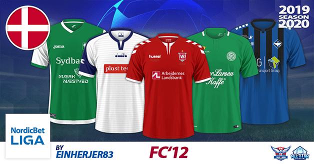 Football Manager 2019 Kits - FC'12 Denmark – NordicBetLiga 2019/2020