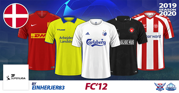 Football Manager 2020 Kits - FC'12 Denmark – Superliga 2019/2020 [update 1.1]