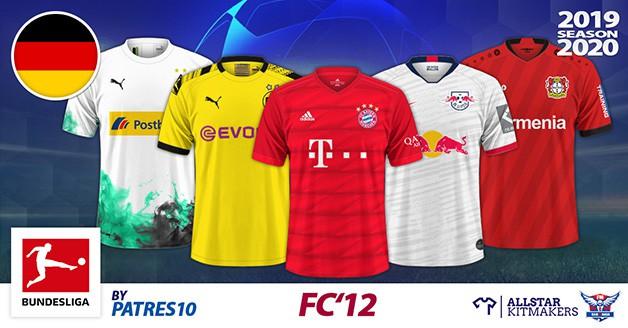 Football Manager 2019 Kits - FC'12 Germany – Bundesliga 2019/2020