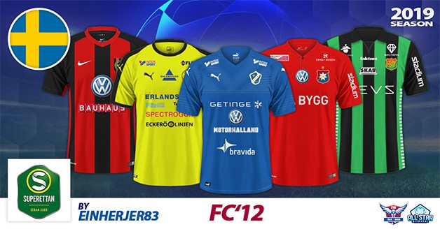 Football Manager 2019 Kits - FC'12 Sweden – Superettan 2019