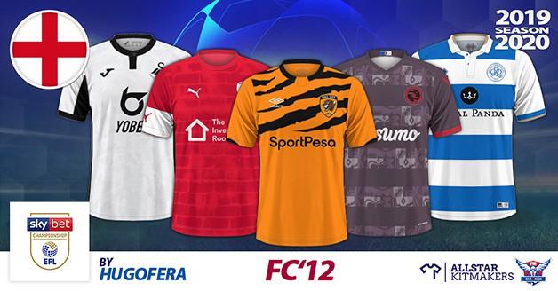 Football Manager 2020 Kits - FC'12 England – Championship 2019/20