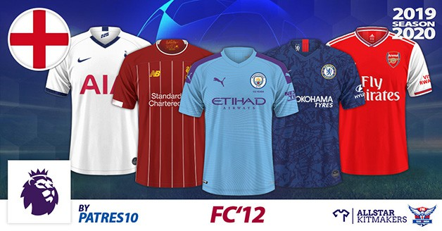 Football Manager 2020 Kits - FC'12 England – PL 2019/20