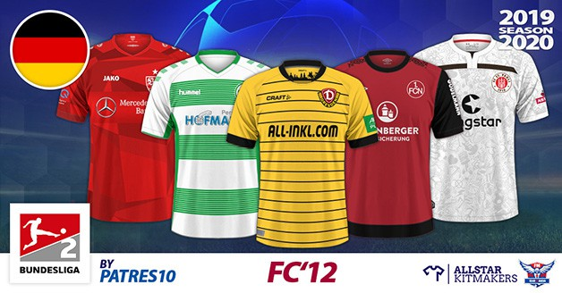 Football Manager 2019 Kits - FC'12 Germany – 2. Bundesliga 2019/20