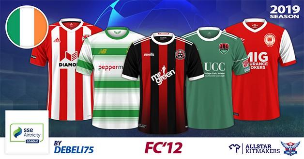Football Manager 2019 Kits - FC'12 Ireland – Premier division 2019