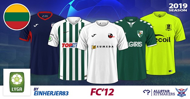 Football Manager 2020 Kits - FC'12 – Lithuania – A-Lyga 2019