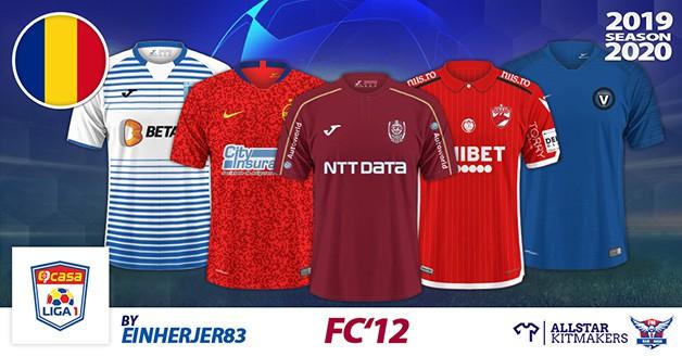 Football Manager 2020 Kits - FC'12 Romania - Liga 1 2019/20
