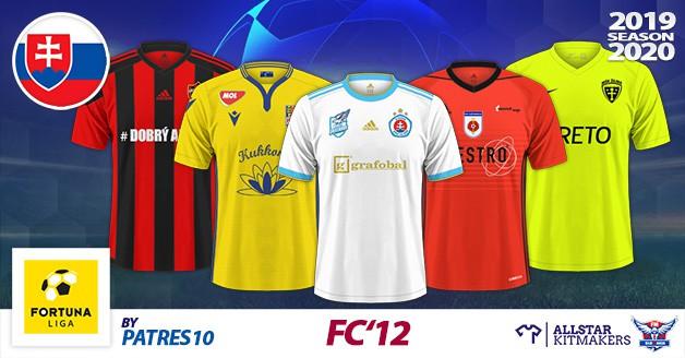 Football Manager 2020 Kits - FC'12 Slovakia – Fortuna Liga 2019/20