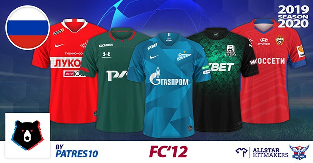 Football Manager 2020 Kits - FC'12 Russia – Premier League 2019/20