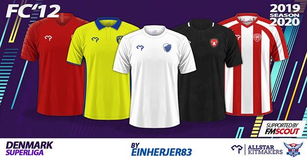 Football Manager 2020 Kits - FC'12 Denmark – Superliga Kits 2019/20