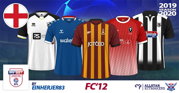 Football Manager 2020 Kits - FC'12 England – League Two 2019/20
