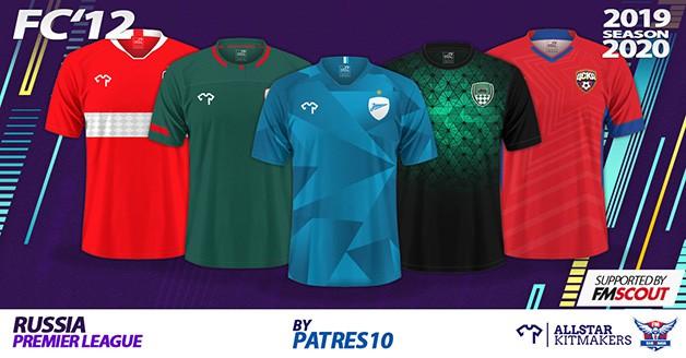 Football Manager 2020 Kits - FC'12 Russia – Premier League Kits 2019/20