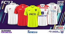 FC'12 Slovakia – Fortuna liga Kits 2019/20