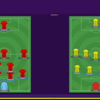 North Macedonia v Ukraine  Formations